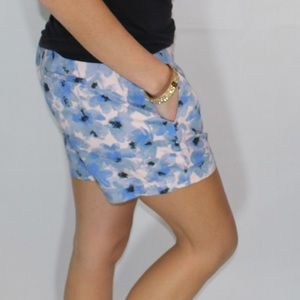J. Crew blue and pink floral shorts